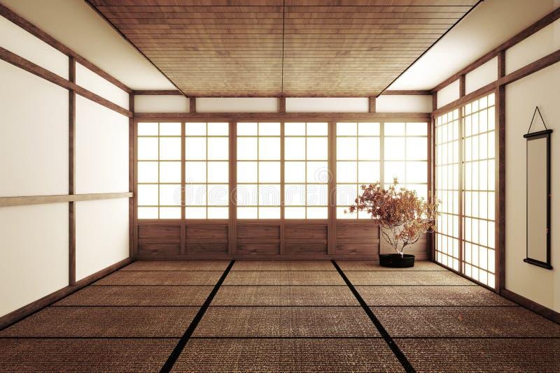 Ontwerpend de mooiste Spot omhoog, ontwierp specifiek in Japanse stijl, lege ruimte het 3d teruggeven royalty-vrije illustratie
