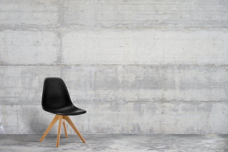 Ontwerper, moderne leunstoel in grijs, het binnenland van de zolderstijl stock afbeelding