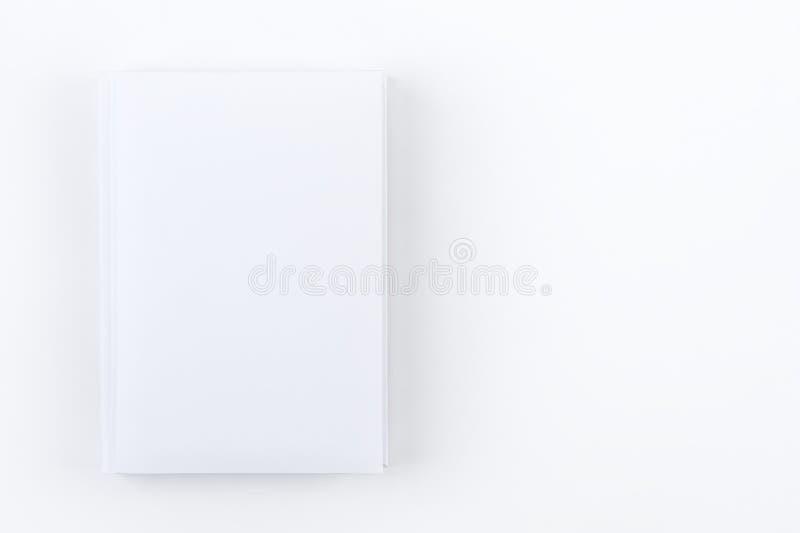 Ontwerper of notitieboekje van de model het de witte dag Vlak leg op witte achtergrond Malplaatje voor collectieve identiteit royalty-vrije stock fotografie