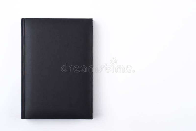 Ontwerper of notitieboekje van de model het de zwarte dag Vlak leg op witte achtergrond Malplaatje voor collectieve identiteit royalty-vrije stock afbeelding