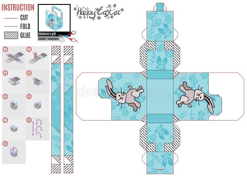 Ontwerperdoos voor jonge geitjes de hazenlooppas vector illustratie
