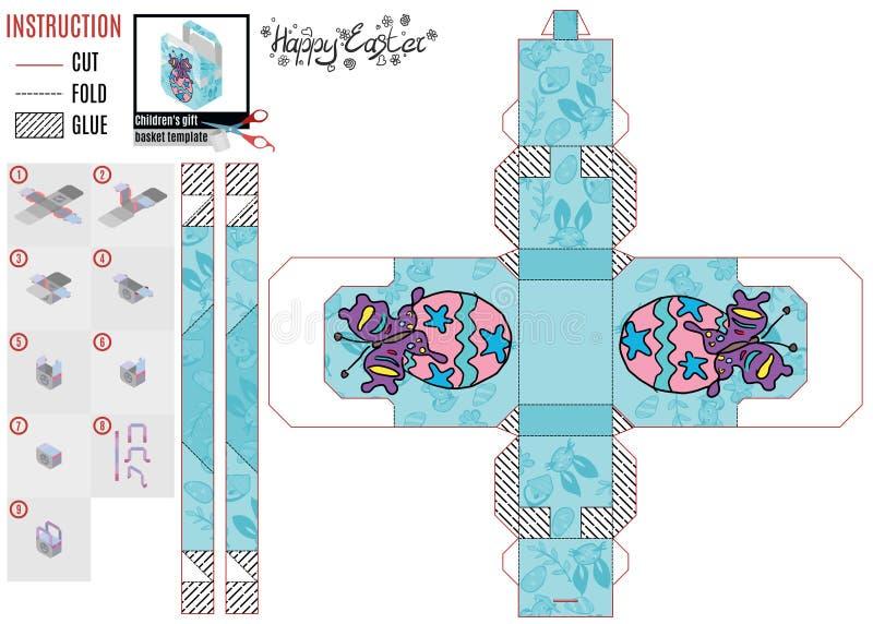 Ontwerperdoos voor jonge geitjes mooie vlinder stock illustratie