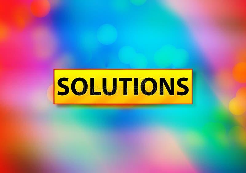 Ontwerpillustratie oplossingen Abstracte Kleurrijke het Achtergrond van Bokeh vector illustratie