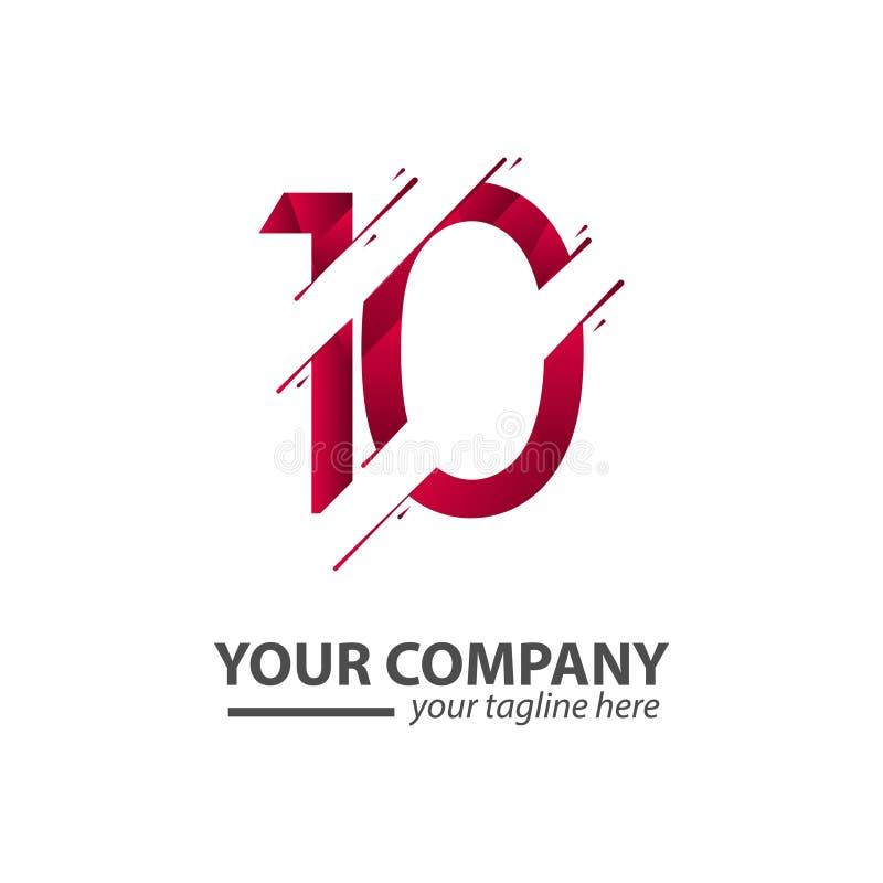 10 Ontwerpillustratie van het jaaranniversary het Your Company Vectormalplaatje stock illustratie