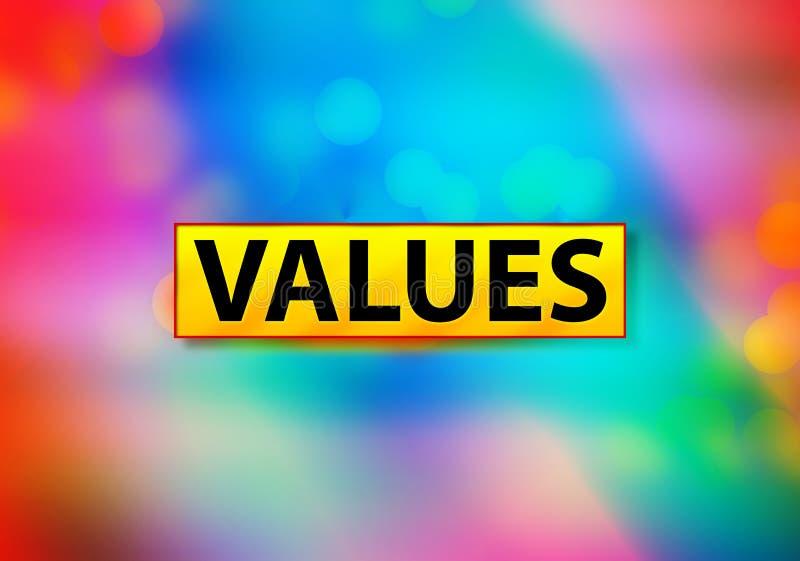 Ontwerpillustratie waarden Abstracte Kleurrijke het Achtergrond van Bokeh royalty-vrije illustratie