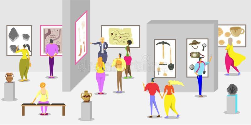 Ontwerpsjabloon van de de affichebanner van het geschiedenismuseum de vector stock illustratie