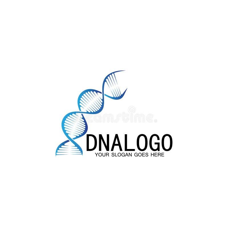 Ontwerpsjabloon voor DNA-vectorlogo modern medisch logo symbool voor laboratoriumwetenschapspictogram kleurrijke farmacologische  vector illustratie