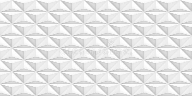 Ontwerpt de volume realistische vector lichte textuur, geometrisch naadloos tegelspatroon, witte achtergrond voor u projecten royalty-vrije illustratie