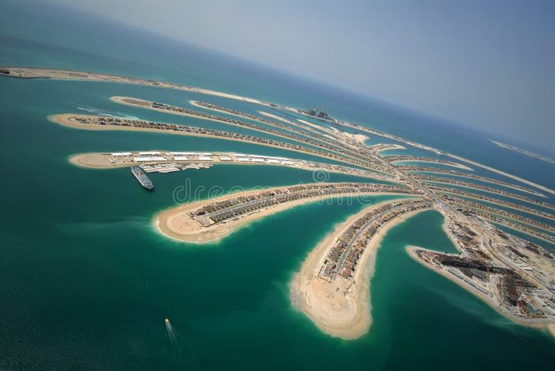 Ontwikkeling van de Palm van Jumeirah stock afbeelding