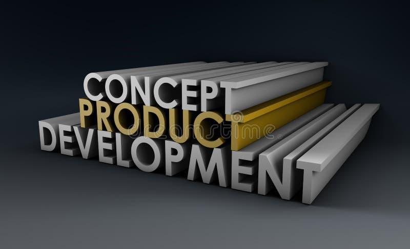 Ontwikkeling van het product stock illustratie