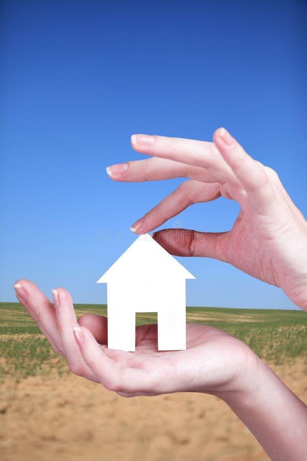Ontwikkeling van land voor nieuwe huisvesting stock afbeelding