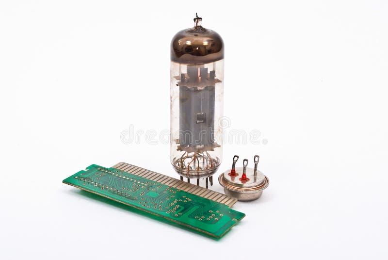 Ontwikkeling van micro-elektronica stock afbeeldingen
