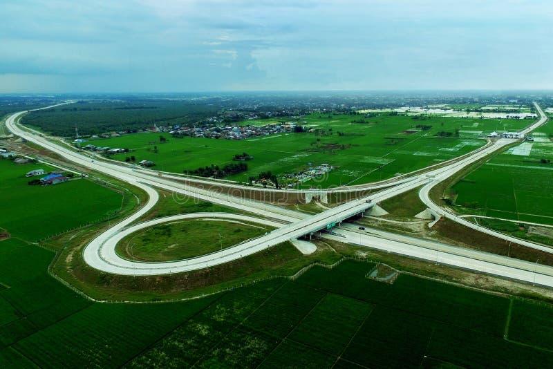 Ontwikkeling van trans Sumatra-Tolweg stock foto's