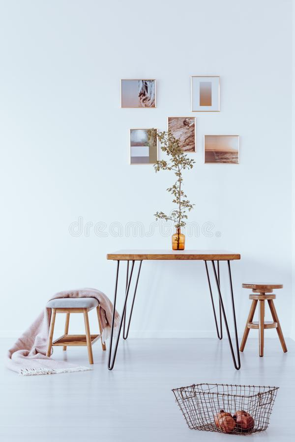 Ontworpen foto's op de muur stock fotografie