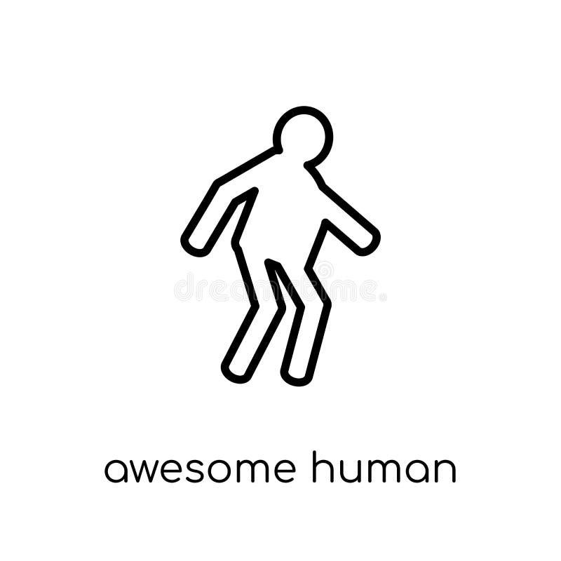 ontzagwekkend menselijk pictogram In modern vlak lineair vector ontzagwekkend gezoem royalty-vrije illustratie