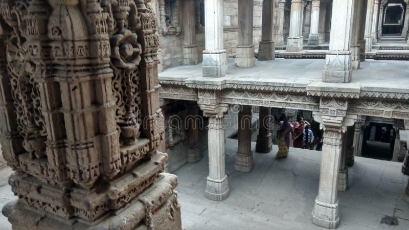 Ontzagwekkende metselwerkranien ki vav, Gujarat royalty-vrije stock fotografie