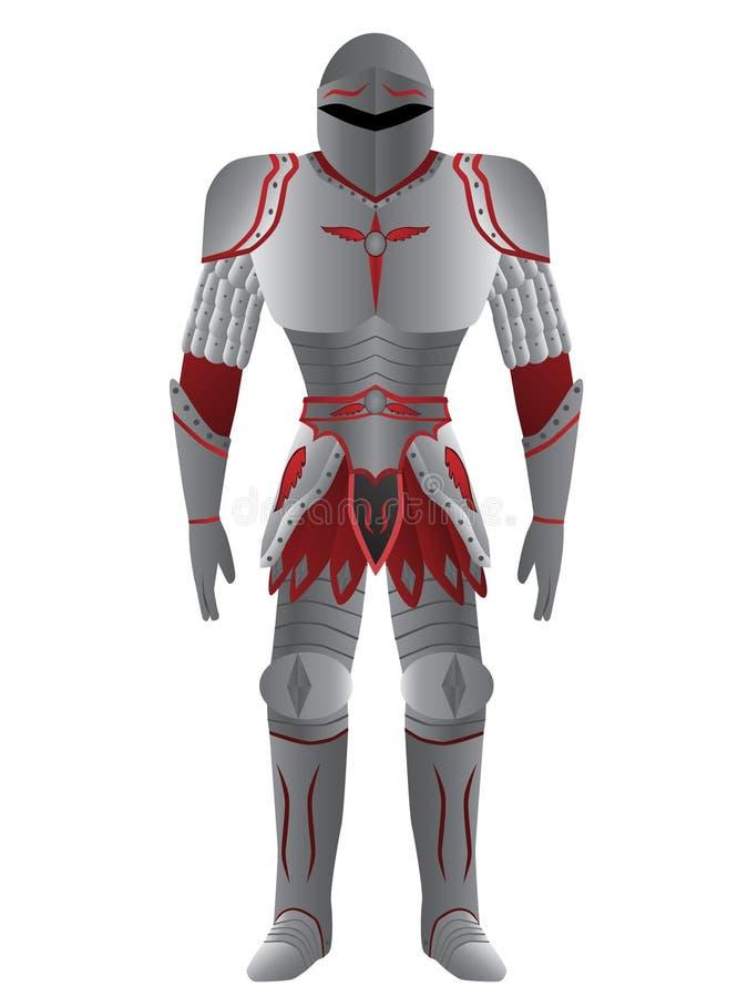 Ontzagwekkende ridder in pantser vector illustratie