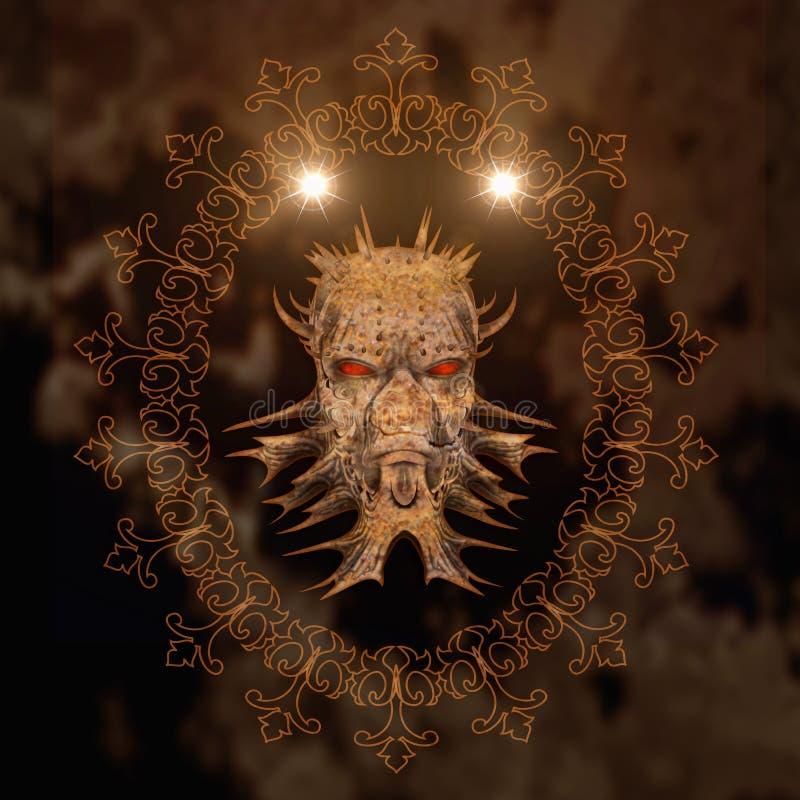 Ontzagwekkende schedel stock illustratie