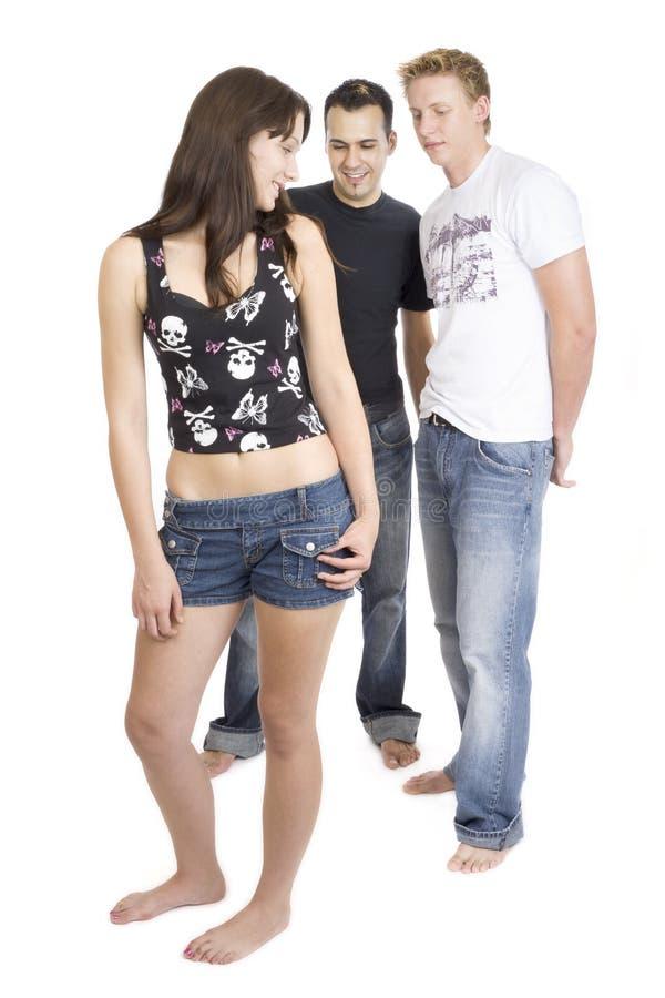 Ontzagwekkende threesome 6 stock foto's