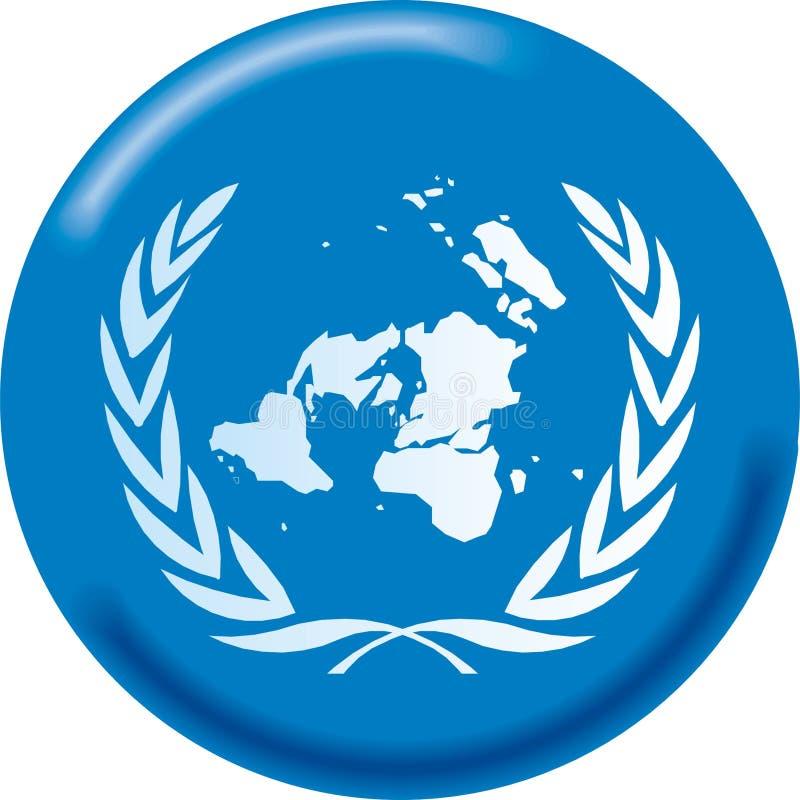 Onu flag. Art illustration: round flag of ONU