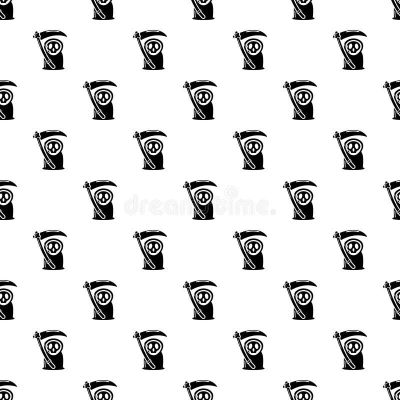 Onverbiddelijk maaimachinepictogram, eenvoudige zwarte stijl stock illustratie