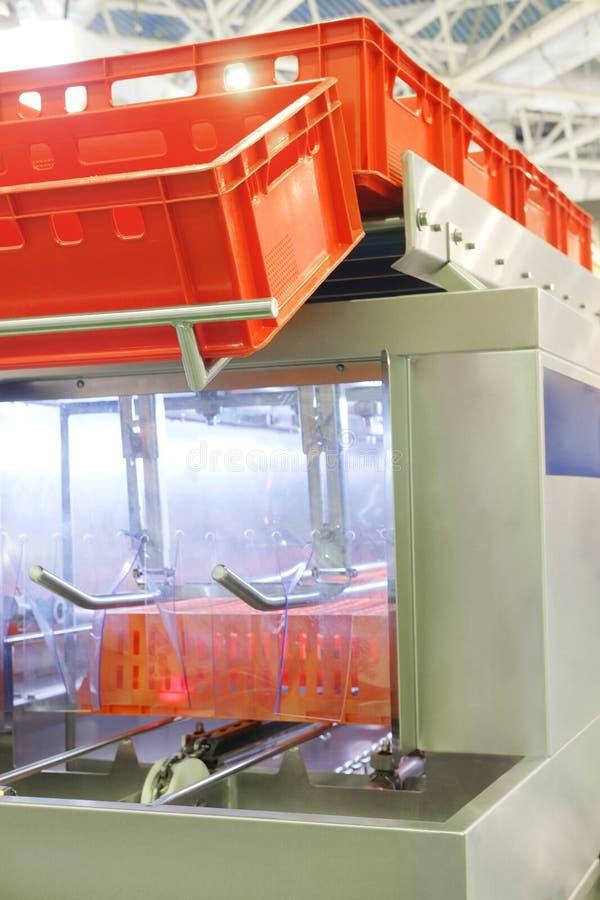 Onveyor ¡ Ð для хранения пластичных коробок стоковая фотография rf