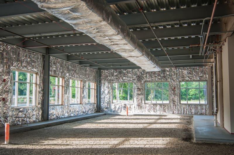 Onvolledig de bouwproject van het staalkader stock foto's