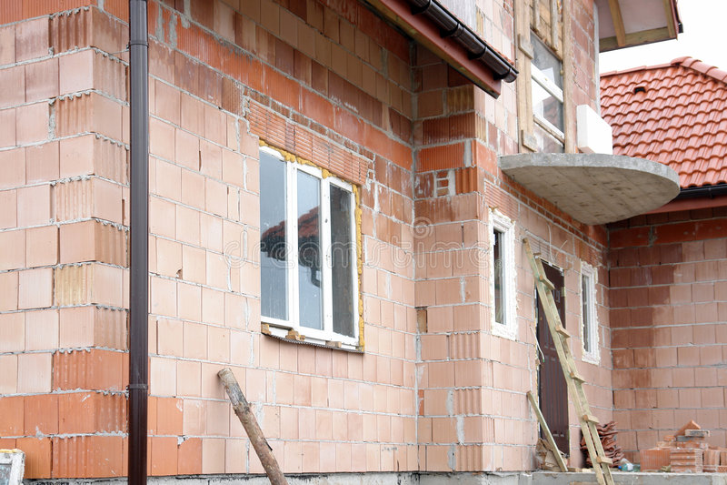 Onvolledig huis stock fotografie