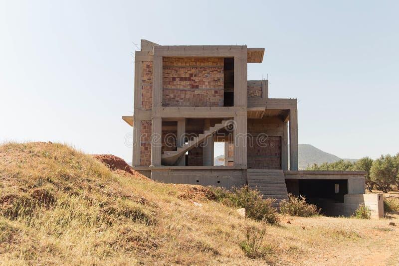 Onvolledige bouw van een woonhuis royalty-vrije stock afbeeldingen