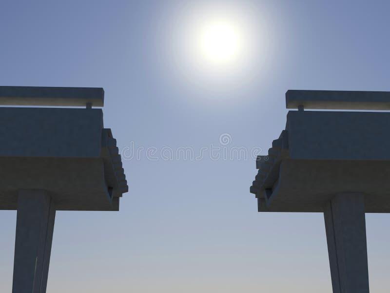 Onvolledige brug stock illustratie