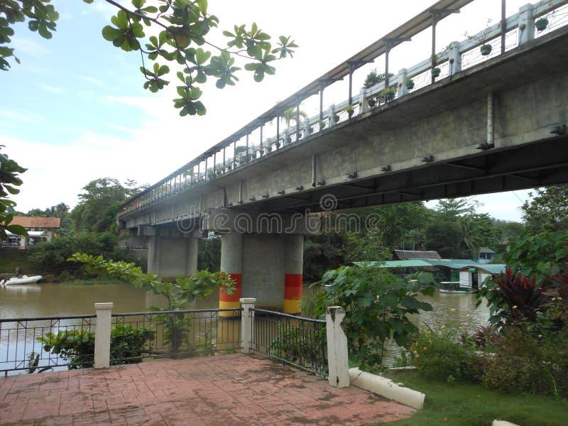 Onvolledige brug in Loboc, Bohol-Eiland stock foto's