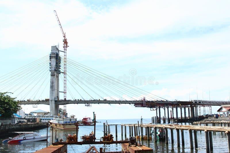 Onvolledige brug in Manado stock foto's