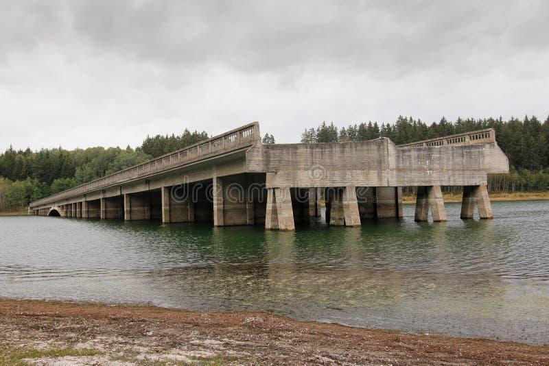 Onvolledige wegbruggen, Tsjechische republiek royalty-vrije stock fotografie