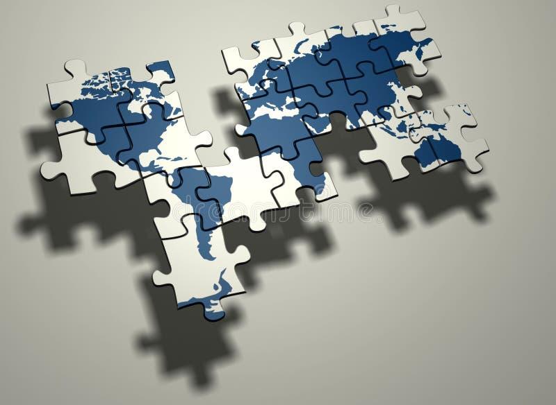Onvolledige wereldkaart vector illustratie