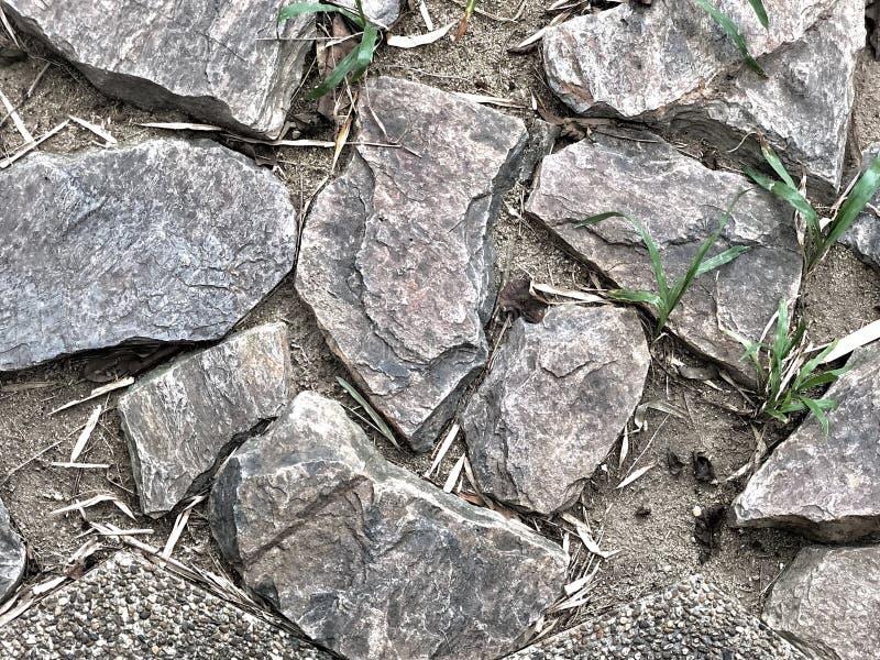 Onvolmaaktheid van rotsenbestrating royalty-vrije stock foto