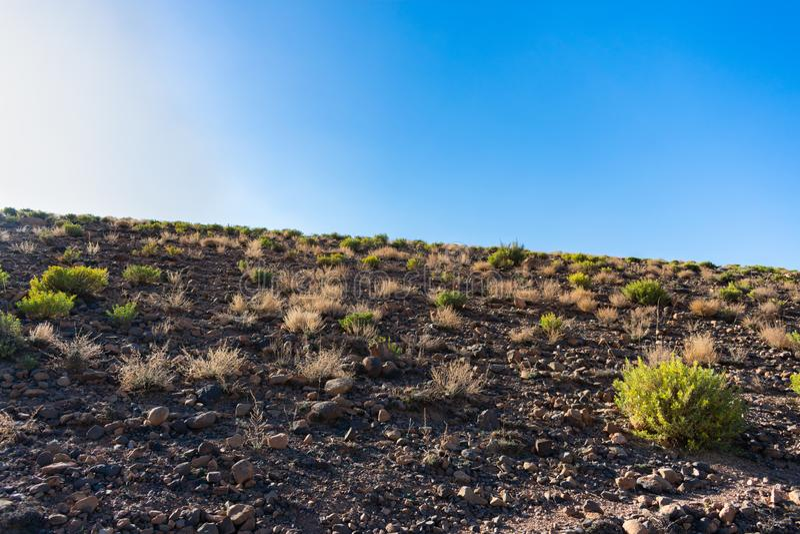Onvruchtbare Grond in Midelt Marokko royalty-vrije stock fotografie