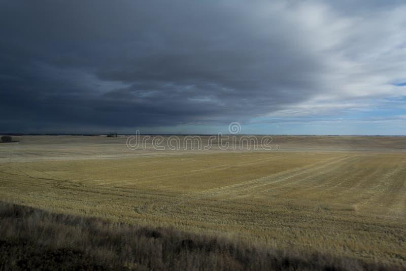 Onweer die over gebieden komen stock fotografie