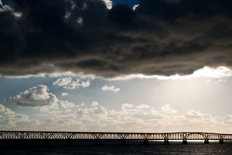 Onweer in Key West royalty-vrije stock foto's