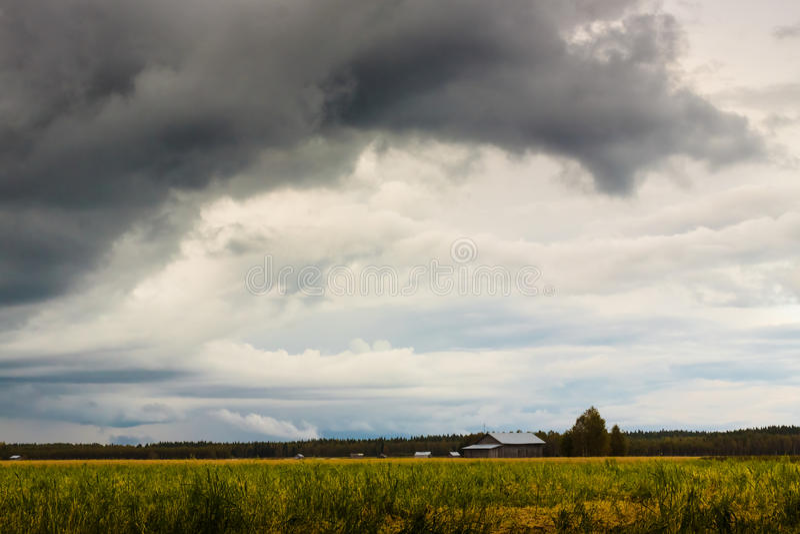 Onweer op de Gebieden stock foto
