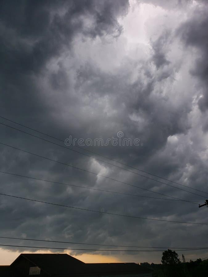 Onweer op de Horizon royalty-vrije stock foto