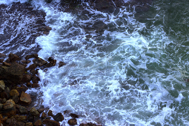 Onweer op de oceaan stock afbeeldingen