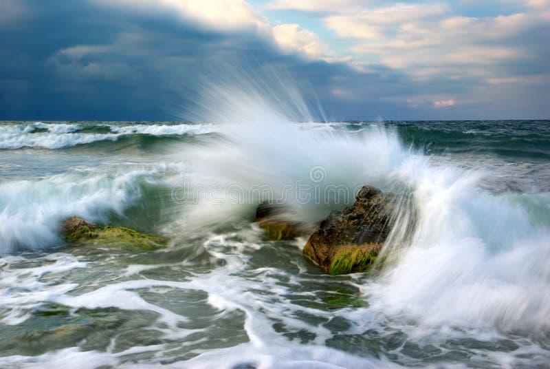 Onweer op het overzees stock foto's