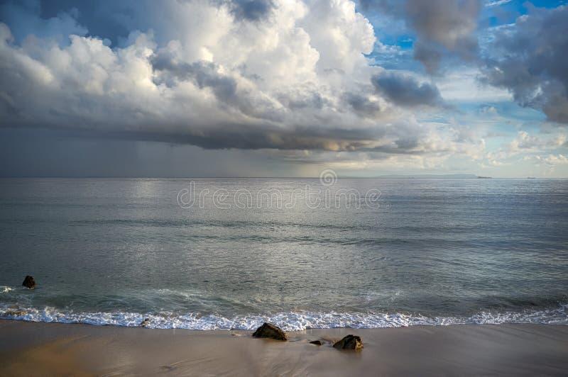 Onweer op het Strand. Tarifa. Cadiz. Andalusia royalty-vrije stock foto's