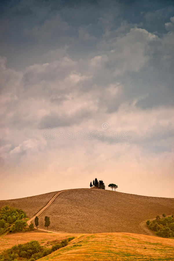 Onweersbui over Toscanië royalty-vrije stock foto