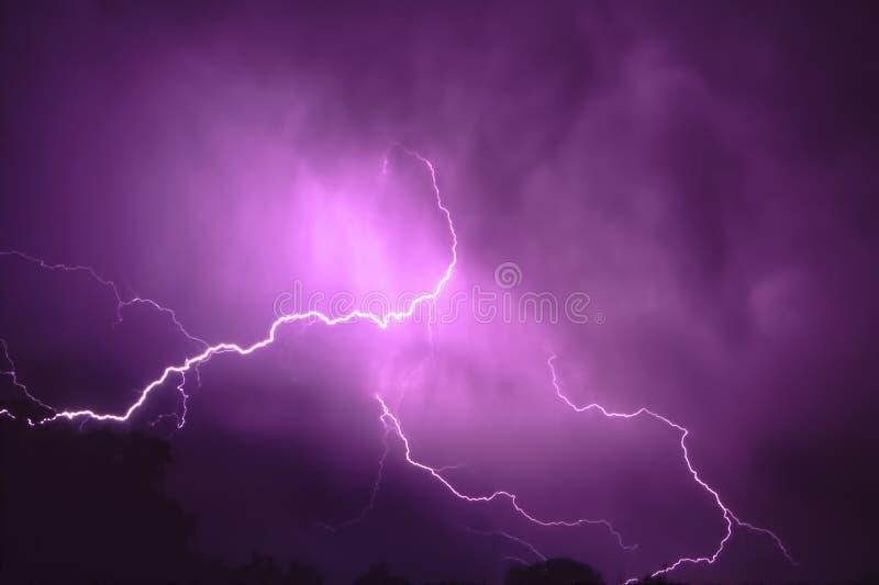 Onweersbuibliksem In Illinois Stock Afbeeldingen