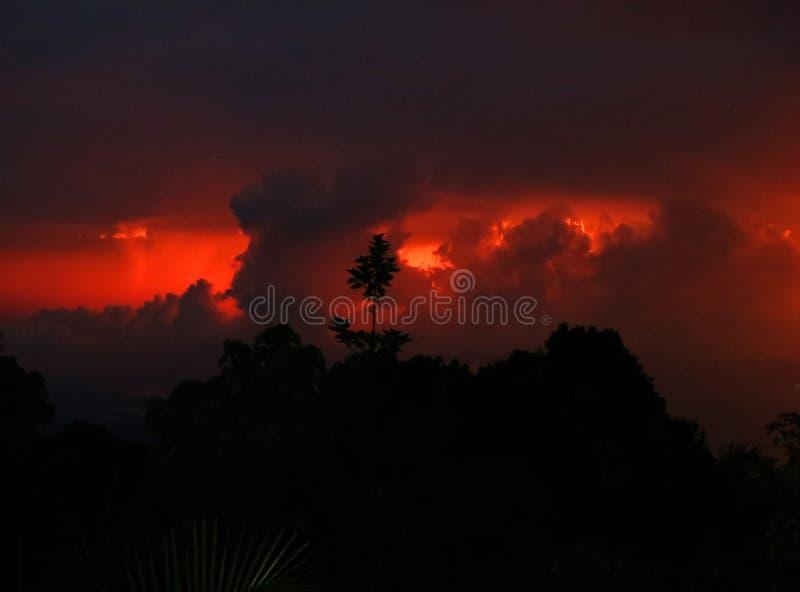 Onweersstorm Santa Marta gebergte / Thunderstorm Santa Marta Mountains, Colombia stock photo