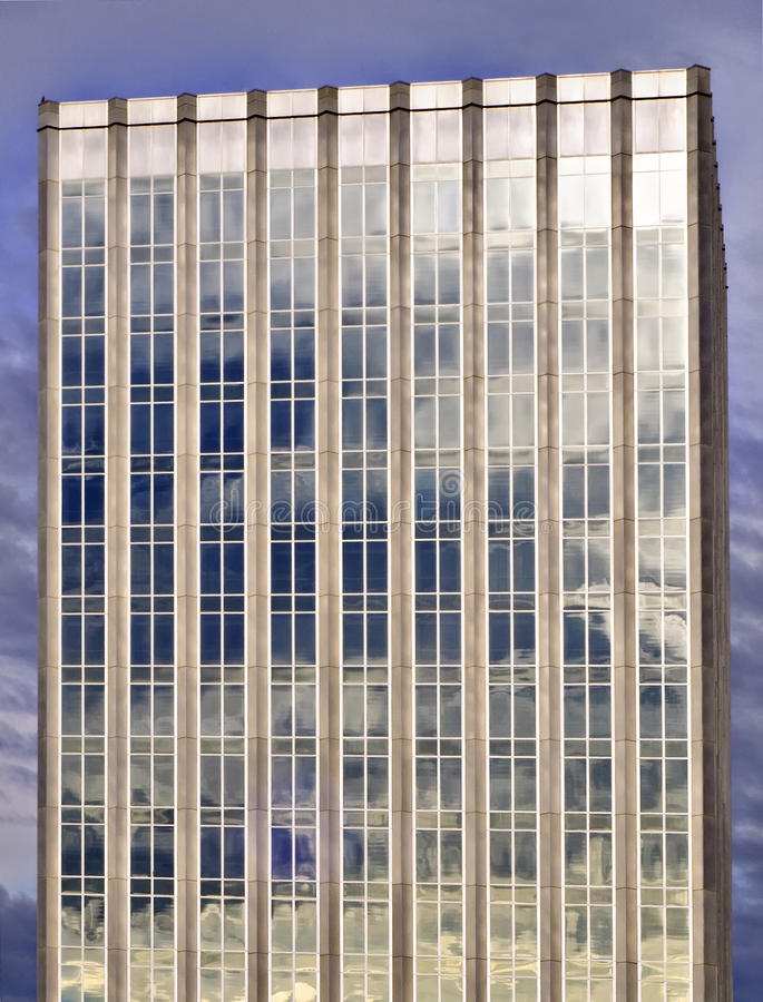 Onweerswolken op Glas royalty-vrije stock afbeelding