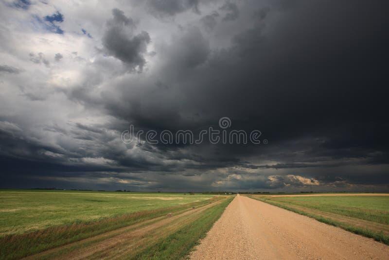 Onweerswolken over Saskatchewan royalty-vrije stock fotografie