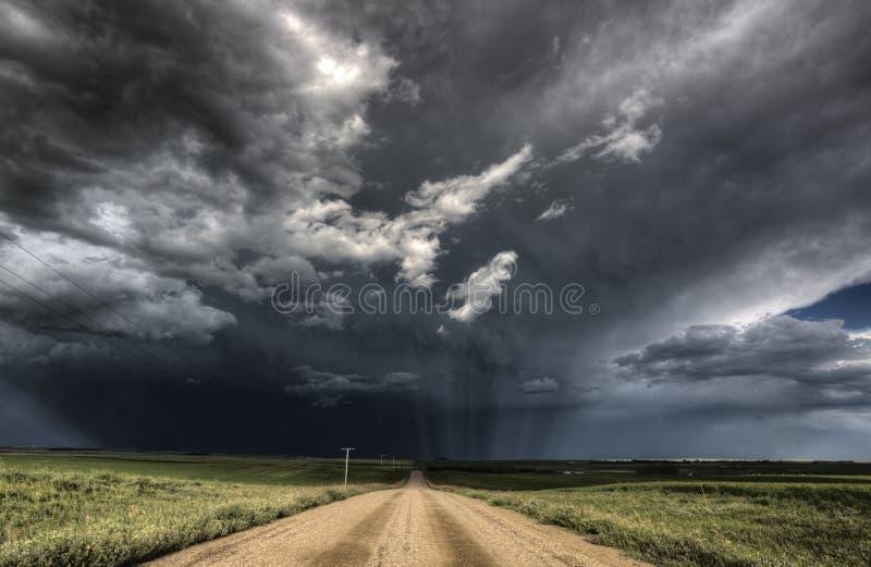 Onweerswolken Saskatchewan royalty-vrije stock foto's