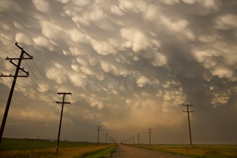 Onweerswolken Saskatchewan stock foto's